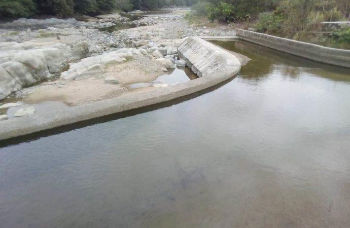 Nivel del caudal del Rio Tapias bajó considerablemente