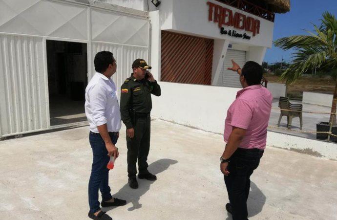 Para mejorar la seguridad autoridades realizan controles en establecimientos de la circunvalar en Riohacha