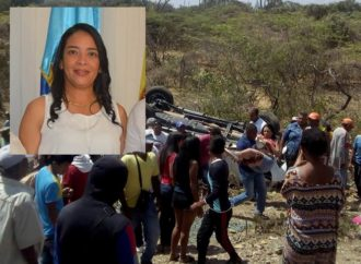 Gestora Social de Riohacha sufrió accidente de tránsito en la vía a Maicao
