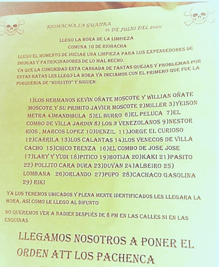 Inseguridad y miedo en la Comuna 10 de Riohacha