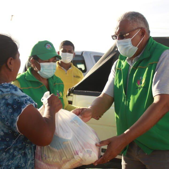 «Coindesoem Solidario» llegó hasta Uribia con ayudas humanitarias para familias damnificadas