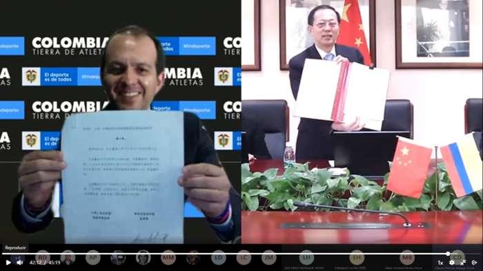 Colombia y la Administración General del Deporte de China firman memorando en materia sobre cooperación deportiva