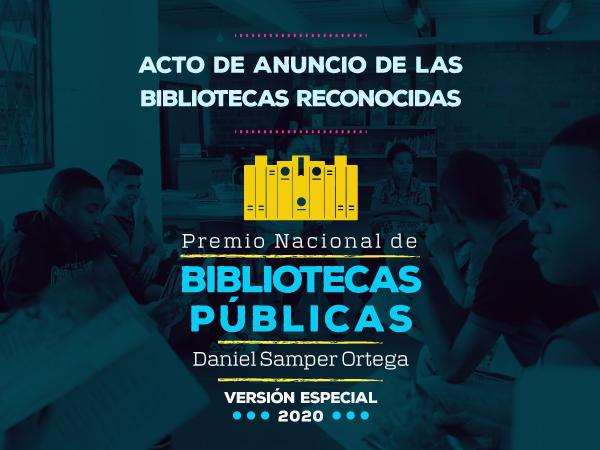 Estas son las 23 bibliotecas reconocidas por el Premio Nacional de Bibliotecas Públicas Daniel Samper Ortega 2020
