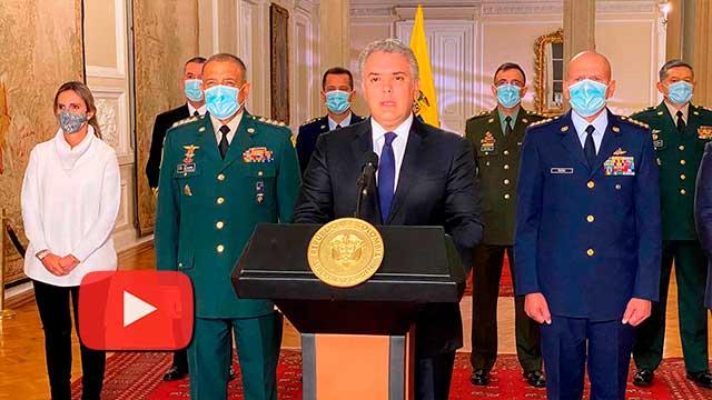 Mensaje del Presidente Iván Duque por el fallecimiento del Ministro de Defensa, Carlos Holmes Trujillo