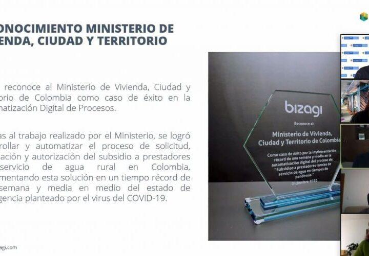 Minvivienda recibió reconocimiento latinoamericano por implementación tecnológica en el subsidio para acueductos rurales