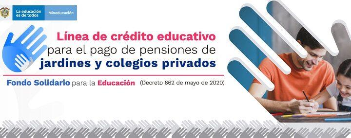 Avances de la Convocatoria 2021 de la Línea de crédito para el pago de pensiones de jardines y colegios privados