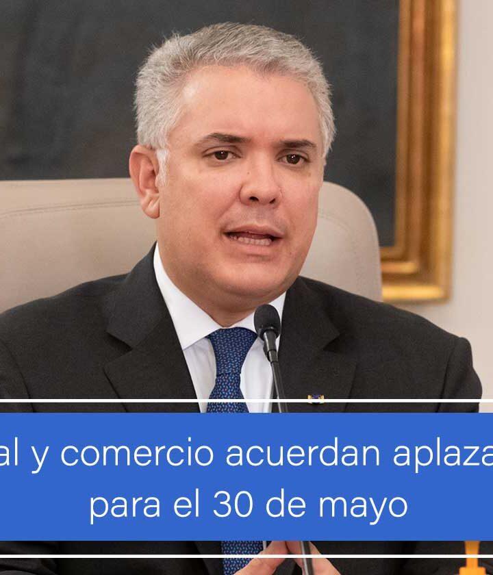 Gobierno Nacional y comercio acuerdan aplazar Día de la Madre para el 30 de mayo