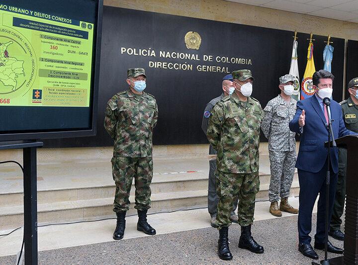 """""""Unidos protegeremos el país de la amenaza terrorista que infiltra las protestas"""": Ministro de Defensa, Diego Molano"""